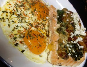 Salmon Florentine & Eggs