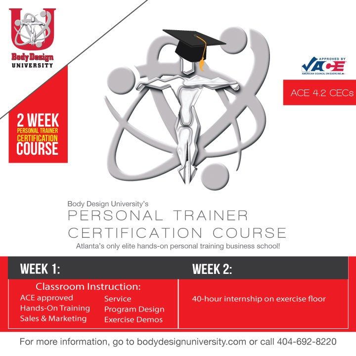 Body Design University - Personal Training Certification » ACE ...